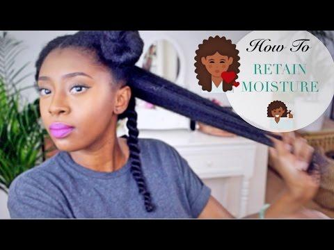 Moisturise DRY Natural Hair In 4 Easy Steps 💆🏾🔢  Retain Moisture & Length