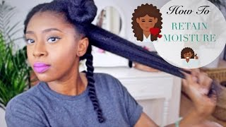One of FusionofCultures's most viewed videos: Moisturise DRY Natural Hair In 4 Easy Steps | Retain Moisture & Length