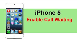 How to enable call waiting in iPhone 5 / iPhone 5s
