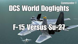 DCS World Dogfights F-15 Eagle versus Su-27 Flanker