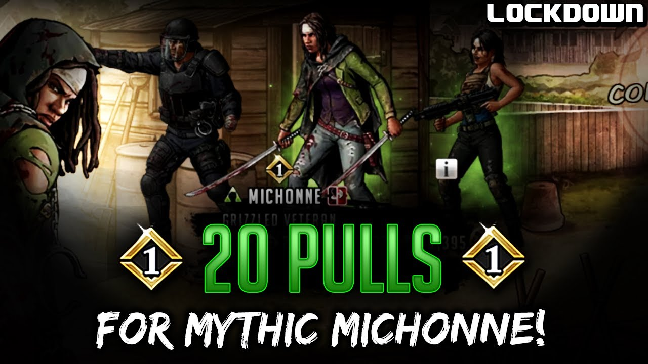TWD RTS: 20 Pulls for Gold Mythic Michonne - The Walking Dead: Road to Survival