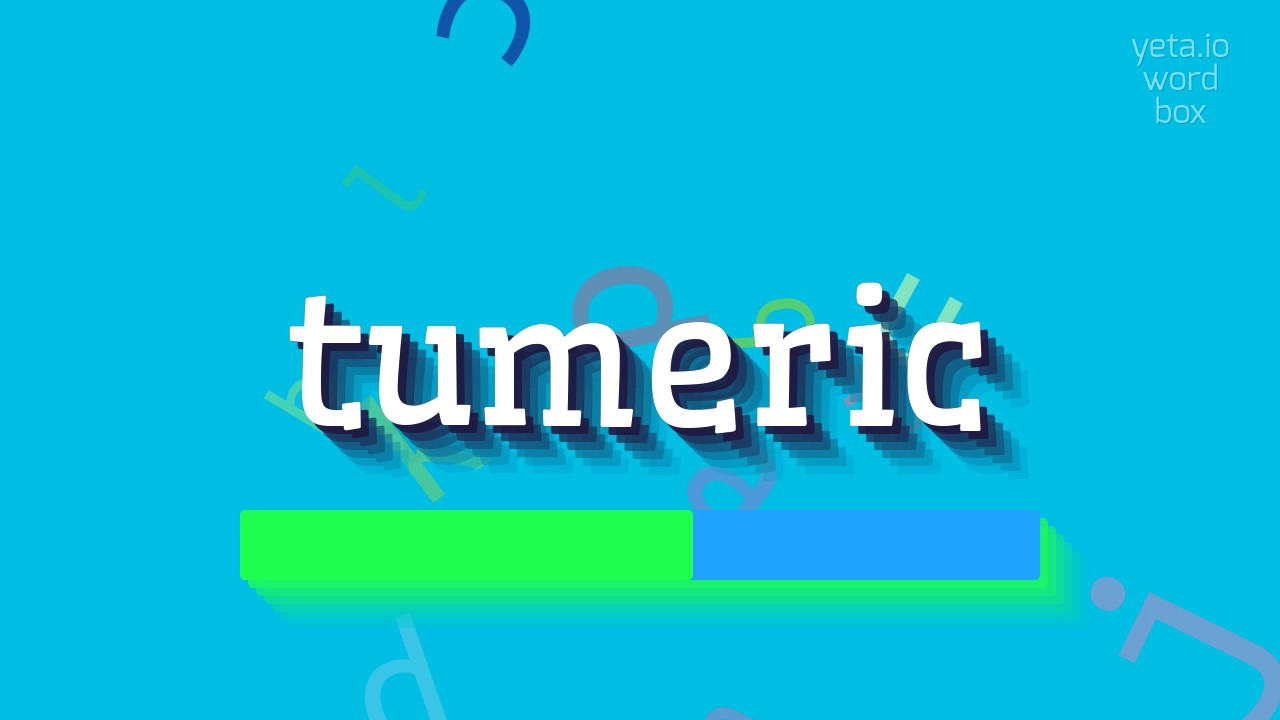 How to say `tumeric`! (High Quality Voices)