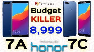 Honor 7A and 7C Smartphone Starting Rs.8999 | The Budget Killer ???? | Data Dock