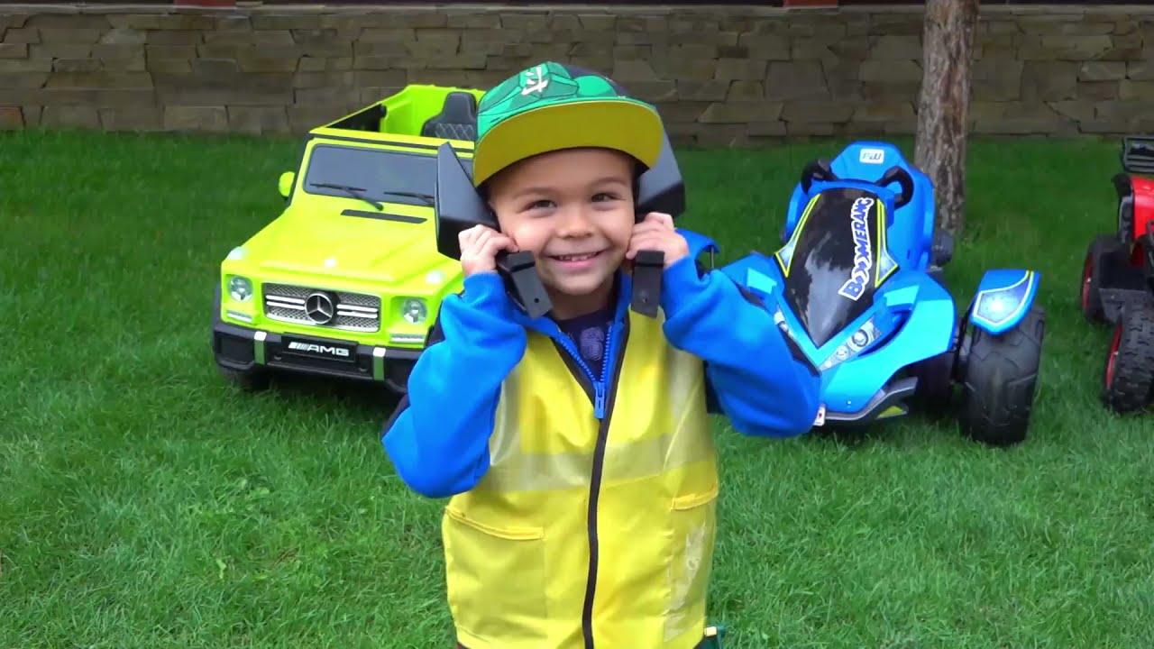 Dima fly on new power wheels plane