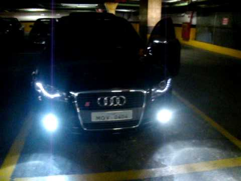AUDI A B LED HEADLIGHTS TAIL LIGHTS YouTube - 2006 audi a4 headlights