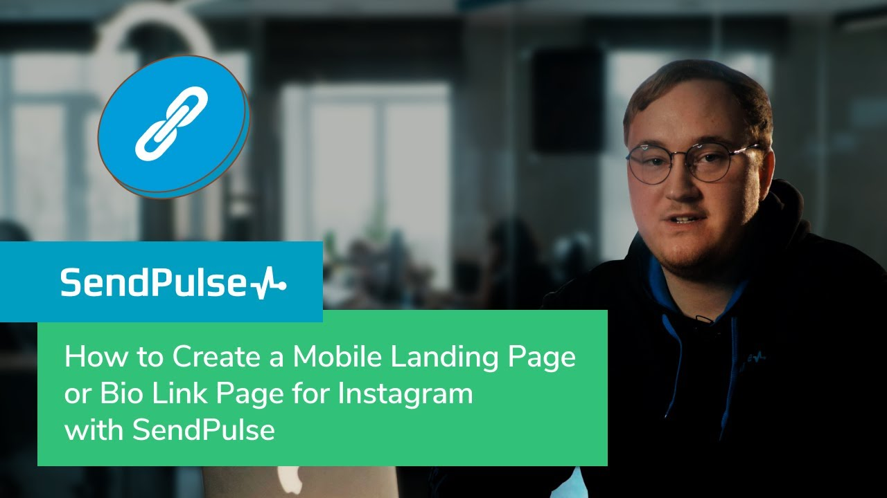 How to Create a Mobile Landing Page or Bio Link Page for Instagram with SendPulse