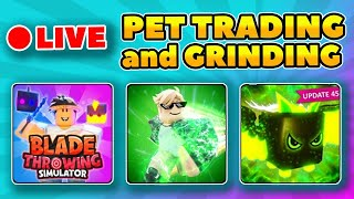 🔴LIVE - PET GIVEAWAYS SPEED CHAMPIONS, BUBBLEGUM SIMULATOR, BLADE THROWING SIMULATOR and MORE