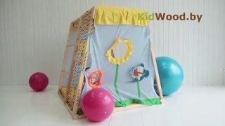 Видео-обзор детского спортивного игрового комплекса Kidwood Парус.