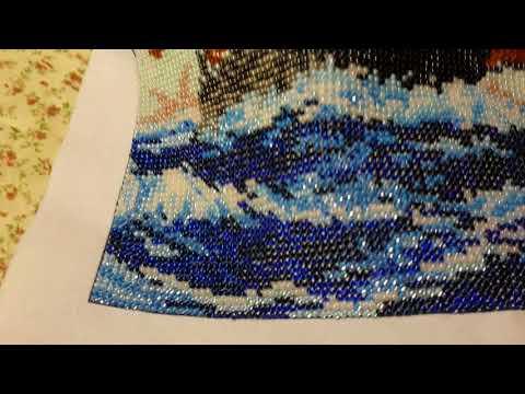 Вышивка бисером алые паруса