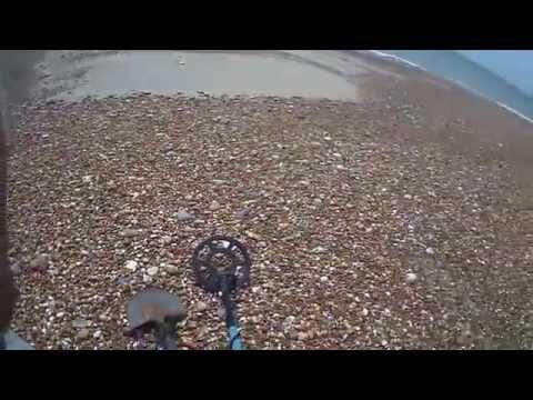 Metal detecting Folkestone beach Kent England part 1