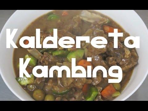 Paano magluto Kaldereta Kambing Pinoy Goat Recipe - Tagalog English caldereta Filipino cooking