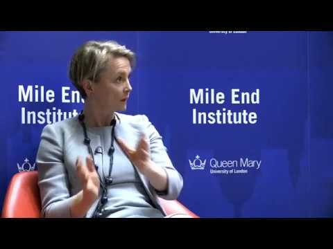 Yvette Cooper at the Mile End Institute, Queen Mary University of London