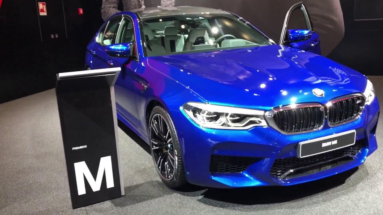 2018 BMW M5 in Marina Bay Blue [WALK AROUND] - YouTube