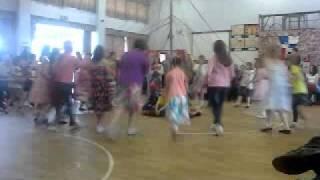 Maypole dancing.