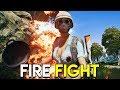 FIRE FIGHT - PUBG (PlayerUnknown's Battlegrounds Sanhok Gameplay)