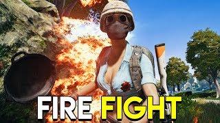 FIRE FIGHT - PUBG (PlayerUnknown's Battlegrounds Sanhok Gameplay)