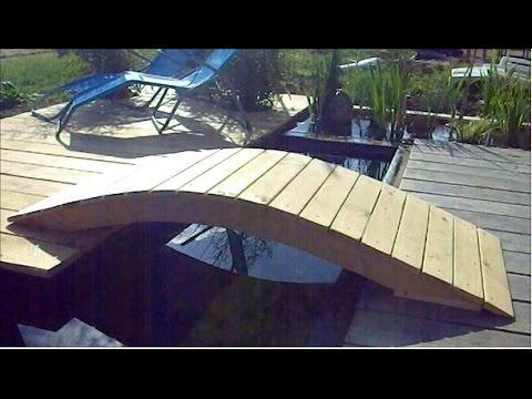 TUTO Création Dun Pont Pour Bassin De Jardin Ou Dornement Pont - Bassin de jardin bois 2