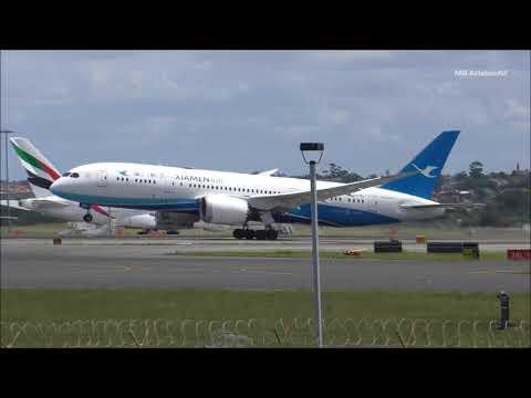 Xiamen Air Boeing 787-8 Dreamliner Takeoff Sydney Airport