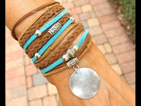 How To Make A Boho Triple Wrap Bracelet Step By Diy Tutorial Bohemian Faux Suede