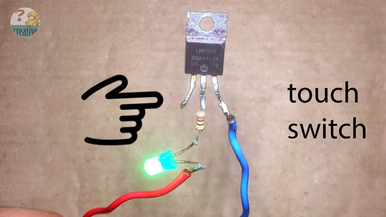 Simple Touch Switch Circuit Using Mosfet Transistor Youtube