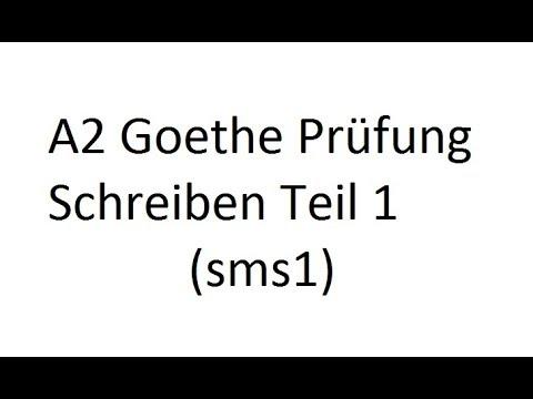 A2 Goethe Prüfung Schreiben Teil 1 Sms1