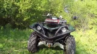 YAMAHA MODDED TO THE MAX ! UPDATE! Best 2016 ATV Money can buy...(Just finished adding PRO ELKA SUSPENSION, 1000w BLUETOOTH STEREO w/SUBWOOFER , Aluminum Skids and more .... Check out the most modded ..., 2016-05-16T10:38:47.000Z)