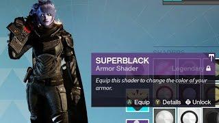 Destiny: Rise of Iron ~ How to get the Secret Shader [Superblack]
