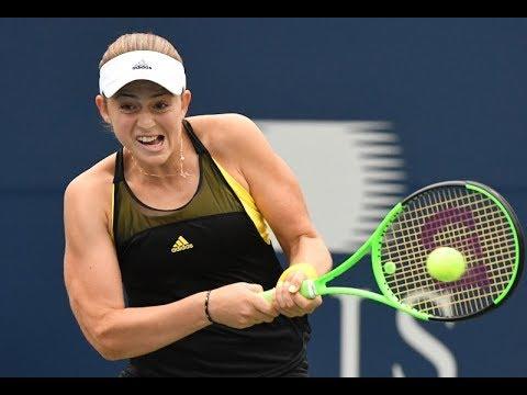 Jelena Ostapenko - Varvara Lepchenko / Round 1 / WTA Rogers Cup Toronto 2017