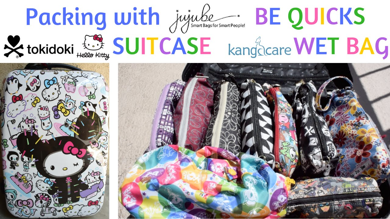 Ng With Ju Be Quicks And Tokidoki X Kangacare Wet Bags In A O Kitty Suitcase