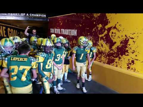 Arizona VS Red Army coming out the ASU SUN DEVIL STADIUM