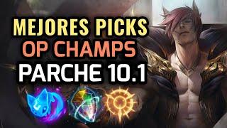 MEJORES PICKS Y CAMPEONES OP - PARCHE 10.1 League of Legends 2020 - OP Champs LOL Temporada 10