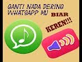 Cara Mengganti Nada Dering Pada Whatsapp Omkicau(.mp3 .mp4) Mp3 - Mp4 Download
