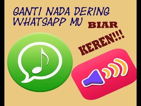 cara mengganti nada dering pada whatsapp