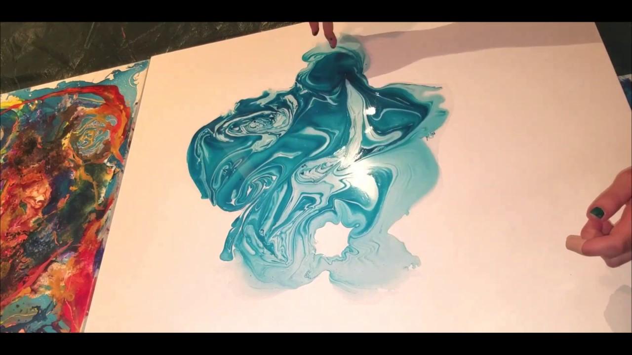 Ocean Blue Witchcraft ~ Process Video ~ Juliethillbrand.com | Juliet Hillbrand Art Gallery