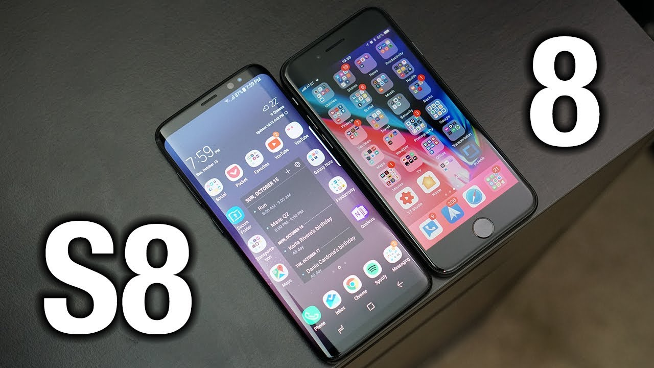 iPhone 8 vs Samsung Galaxy S8  Sorry Apple     Pocketnow   YouTube iPhone 8 vs Samsung Galaxy S8  Sorry Apple     Pocketnow