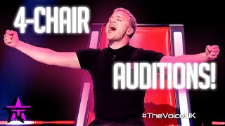 AMAZING 4-Chair Auditions on THE VOICE UK 2021!