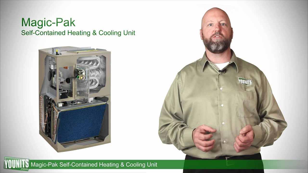 video guide to magic pak self contained heating and cooling unit features younits com hd  [ 1280 x 720 Pixel ]
