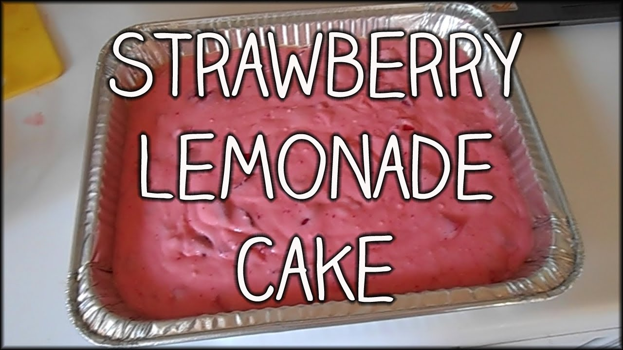Strawberry Lemonade Cake From Box