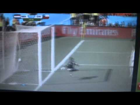 World Cup Brazil 2014 Goal Holland-Chile Leroy Fer 1-0 HD 23.06.2014
