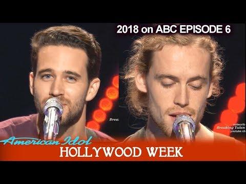 American Idol 2018 Hollywood Week Round 1 Trevor Holmes (Katy Perry's crush) & David Francisco