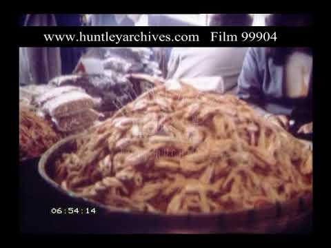 Ning Po Fish Market, China, 1970s - Film 99904