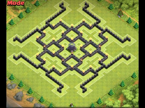 Clash of clans th9 de farming base with 4 mortars youtube