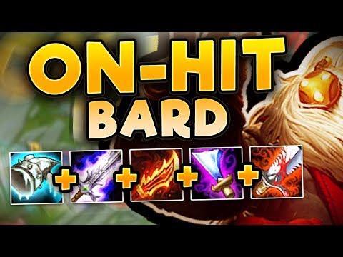 THIS ON-HIT BARD BUILD IS LEGITIMATELY SO BROKEN! NEW ON-HIT BARD TOP GAMEPLAY - League of Legends