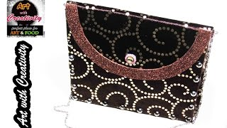 How to make a Hand Bag / Purse at Home | DIY | Art with Creativity