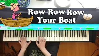Row, Row, Row Your Boat - Nursery Rhyme - Piano Cover
