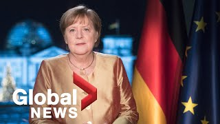 Angela merkel reflects on 2020 in final new year's address as german chancellor