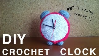 I added a clock kit to my crochet clock. Now it