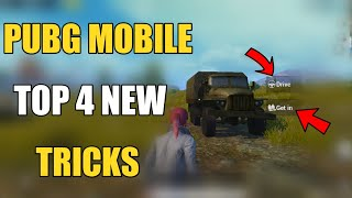 ONLY 0.1 PEOPLE KNOW THIS TRICKS ! PUBG MOBILE TOP 4 NEW TIPS AND TRICKS HINDI