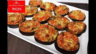 ÇOK HAFİF LEZZETLİ Bir Tarif / Patlıcan Dilimleri  /Fırında EZBER BOZAN Patlıcan Kebab Tarifi