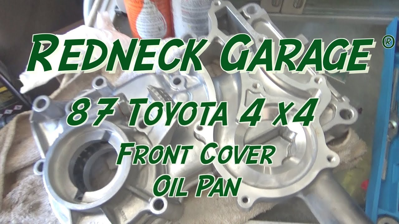 Toyota 22RE Front Timing Cover and Oil Pan Installation